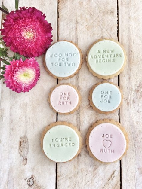 The 'Yippee You're Engaged!' biscuits