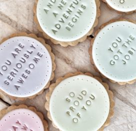 The 'Yay New Job' biscuits