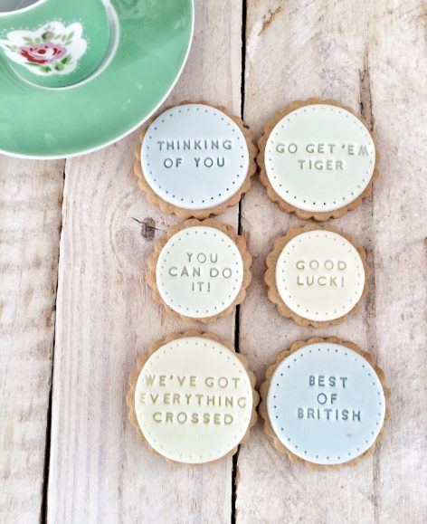 The 'Wishing You Luck' biscuits