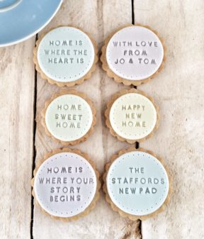 The 'Lovely New Home' biscuits