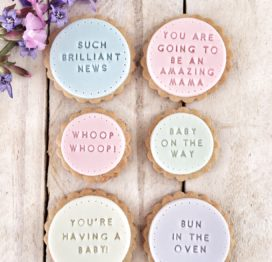 The 'Hooray You're Having a Baby!' biscuits