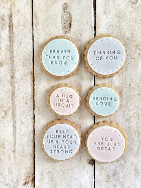 The 'Braver than you know' biscuits